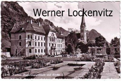 Ansichtskarte Liechtenstein Vaduz Regierungsgebäude