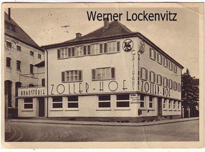 Ansichtskarte Sigmaringen Gasthof Zoller Hof