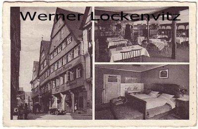 Ansichtskarte Tübingen Hotel Kaiser mehrfach Bes. Konrad Seitz