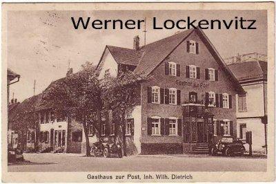 Ansichtskarte Wilhelmsdorf bei Ravensburg Gasthof zur Post Inh. Wilhelm Dietrich