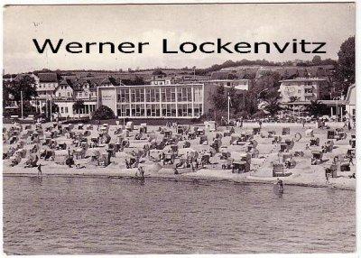 Ansichtskarte Grömitz Strand und Kurmittelhaus