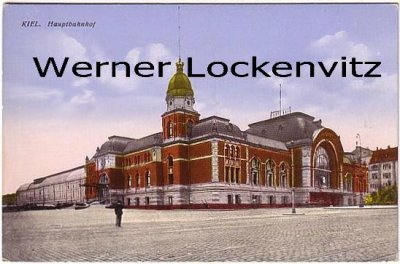 Ansichtskarte Hauptbahnhof in Kiel