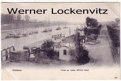 Ansichtskarte Kiel-Holtenau Partie am Kaiser Wilhelm Kanal