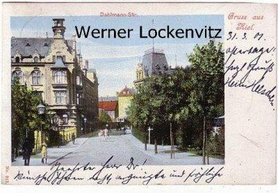 Ansichtskarte Kiel Dahlmann-Straße