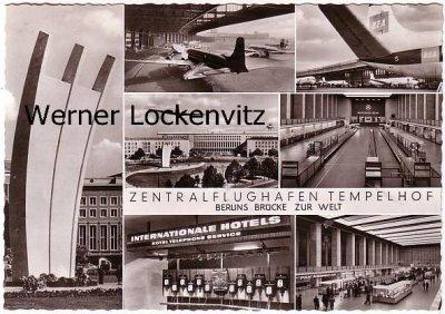 Ansichtskarte Berlin-Tempelhof Zentralflughafen Flughafen