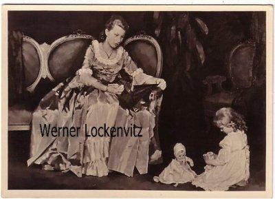 Ansichtskarte Haus der Deutschen Kunst HDK Nr. 561 Mutter und Kind mit Puppe