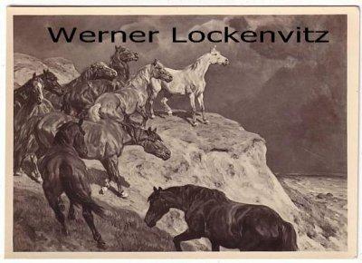 Ansichtskarte Haus der Deutschen Kunst HDK Nr. 527 In der Freiheit Pferde