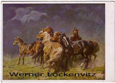 Ansichtskarte Haus der Deutschen Kunst HDK Nr. 139 Pferde im Gewittersturm