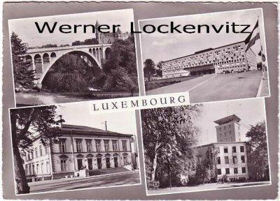 Ansichtskarte Luxemburg Luxembourg mehrfach Rathaus Theater RTL