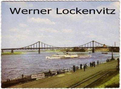 Ansichtskarte Uerdingen am Rhein Rheinbrücke mit Rheindampfer