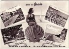 Ansichtskarte Cartolina Italia Saluti da Grado mehrfach Muschel Bademode