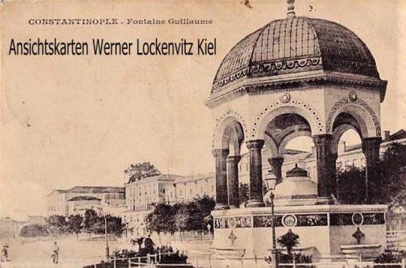 Ansichtskarte Türkei Constantinople Istanbul Fontaine Guillaume mit Marineschiffspost MSP Nr. 14