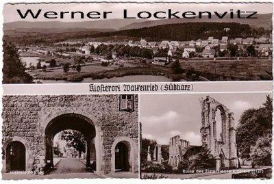 Ansichtskarte Walkenried Klosterort Südharz Historisches Tor Ruine des Zisterzienserklosters