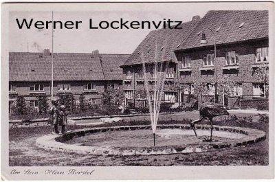 Ansichtskarte Hamburg-Klein Borstel Am Stein mit Springbrunnen