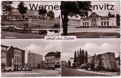 Ansichtskarte Düren Stadthalle Am Hoeschplatz