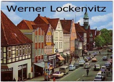 Ansichtskarte Nienburg Weser Lange Straße