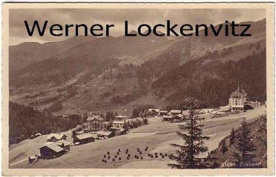 Ansichtskarte Schweiz Davos Clavadel Ortsansicht Panorama Graubünden