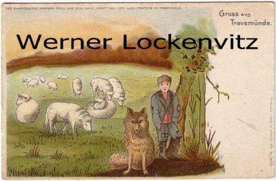 Ansichtskarte Travemünde Schäferjunge Hermann Falck auf dem Leuchtenfelde