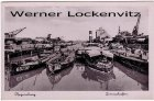 Ansichtskarte Regensburg Donauhafen mit Binnenschiffen