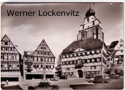 Ansichtskarte Herrenberg Marktplatz