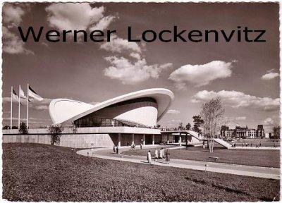Ansichtskarte Berlin Kongresshalle mit Reichstagsruine