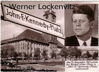 Ansichtskarte Berlin-Schöneberg Rathaus Kennedy
