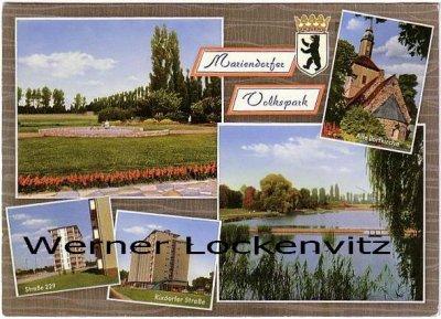 Ansichtskarte Berlin-Mariendorf Volkspark Straße 229 Rixdorfer Straße