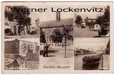 Ansichtskarte Berlin-Moabit  Postamt Turmstraße Westhafen