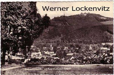 Ansichtskarte Erdmannsdorf Panorama Ortsansicht