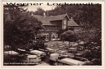 Ansichtskarte Blankenburg Harz Hotel Waldfrieden