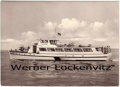Ansichtskarte Cuxhaven Motorschiff Christiane