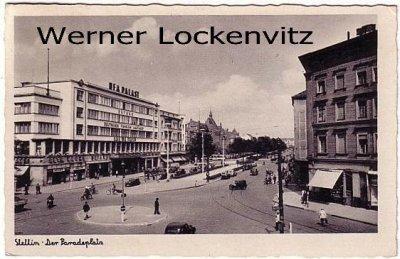 Ansichtskarte Polen Pommern Stettin Szczecin Der Paradeplatz mit UFA Palast Kino