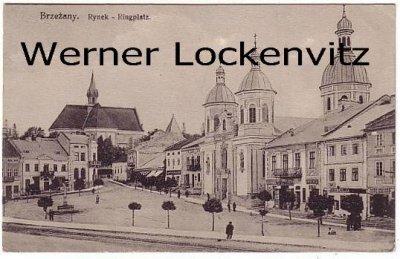 Ansichtskarte Ukraine Brzezany Berezhany Rynek  Ringplatz