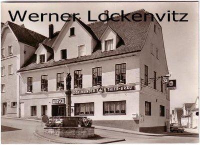 Ansichtskarte Deggingen Gaststätte zum Hirsch Bes. Rolf Meissle