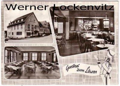 Ansichtskarte Steinenbronn Gasthof und Metzgerei zum Löwen