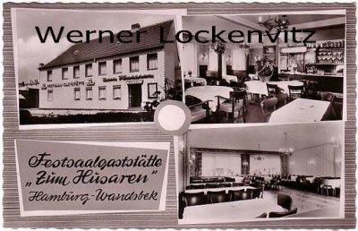 Ansichtskarte Hamburg-Wandsbek Zum Husaren Toni Schaeffer