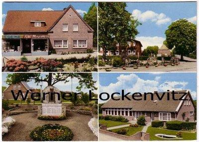 Ansichtskarte Wakendorf I über Bad Oldesloe Gedenkstein Geschäft von Christian Meynerts