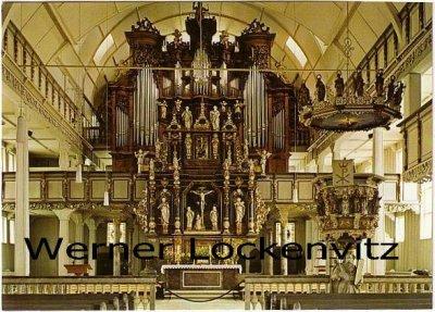 Ansichtskarte Clausthal-Zellerfeld Marktkirche Innen Orgel