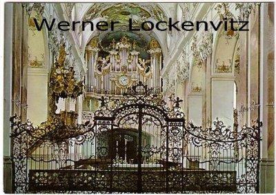 Ansichtskarte Amorbach Abteikirche Innennsicht mit Orgel