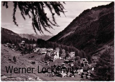 Ansichtskarte Schweiz Bosco-Curin Walsertal im Tessin Ortsansicht