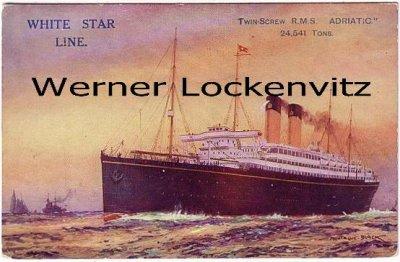 Ansichtskarte Twin-Screw R.M S. Adriatic White Star Line Schiffe