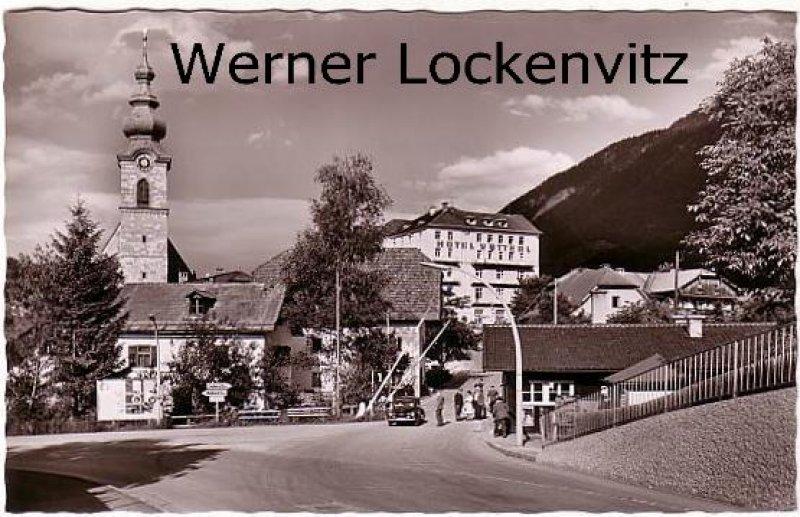 Ansichtskarte Bayerisch Gmain und Groß-Gmain Grenze Zoll mit Hotel Vötterl