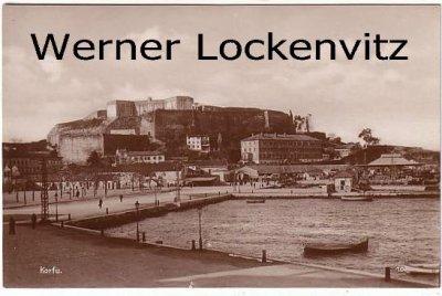 Ansichtskarte Trinks-Bildkarte Griechenland Korfu Hafen und Zitadelle Harbour and Citadelle
