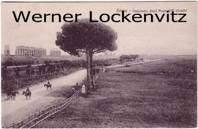Ansichtskarte Cartolina Italien Italia Rom Roma Panorama degli Acquedotti Claudio