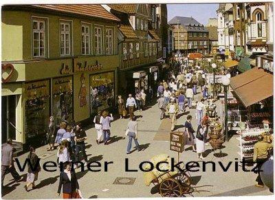 Ansichtskarte Hamburg-Bergedorf Fußgänger-Einkaufsstraße Sachsentor