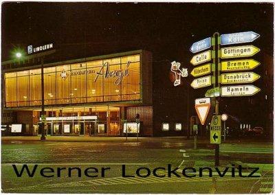 Ansichtskarte Hannover Theater am Aegi bei Nacht