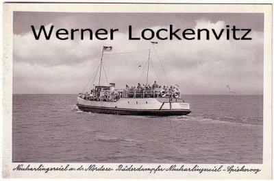 Ansichtskarte Neuharlingersiel Bäderdampfer Neuharlingersiel-Spiekeroog