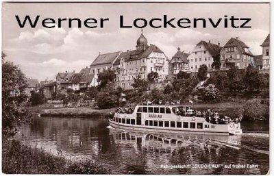 Ansichtskarte Bad Friedrichshall-Jagstfeld Fahrgastschiff Glück auf