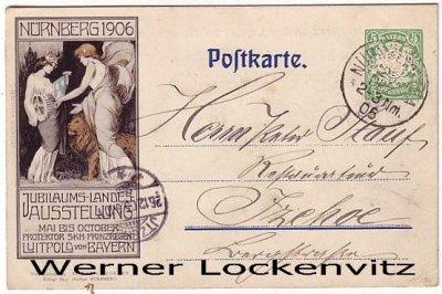 Ansichtskarte Nürnberg Jubiläums-Landes-Ausstellung Ganzsache