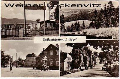 Ansichtskarte Steinberg-Rothenkirchen im Vogtland mehrfach mit Kinderferienlager Philipp Müller